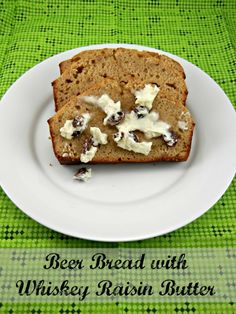 The BEST beer bread recipe! Try it with Whiskey Raisin Butter. Recipe posted at The Tasty Fork
