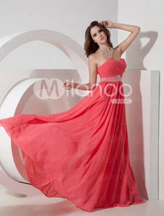Strapless Prom Dress Coral Sweetheart A Line Floor Length Rhinestone Sash Chiffon Party Dress Navy Prom Dresses, Formal Dresses, Tulle Dress, Lace Dress, Sweetheart Prom Dress, Beaded Chiffon, Bustier, Formal Prom, Asymmetrical Dress