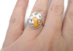 Shabby ocher yellow ring, little ring to wear as your ever favorite ring, to offer as an outstanding engagement ring, as a pretty birthday ring.