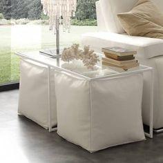 Tavolino da salotto Magic Half con 2 pouf colorati - Youredo