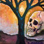 Goodnite skull w/ tree by karlee mannix