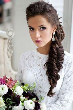 Une tresse pour la coiffure de mariage