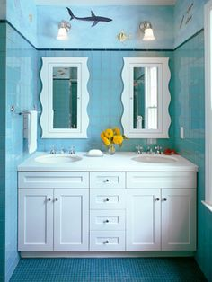 Double Sinks Small Design, Pictures, Remodel, Decor and Ideas
