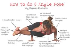 Pin now, practice 8 angle pose later! Wearing: zella live-in leggings, forever 21 tank (similar).