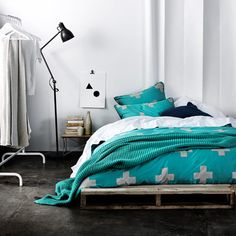 Aura Blue Green Linen in Plus Print, available at Forty Winks