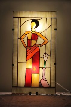 1000 images about stained glass women art deco men. Black Bedroom Furniture Sets. Home Design Ideas