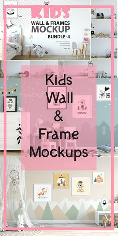 KIDS WALL & FRAMES Mockup Bundle - 4 Perfect for Branding your creation or business. Interior wall Mockups good to use for shop owners, artists, creative Graphic Design Tips, Graphic Design Typography, Etsy Business, Kids Branding, Creative People, Interior Walls, Marketing Materials, Frames On Wall, Etsy