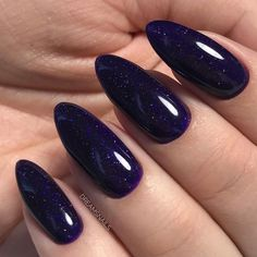 Navy Blue Nails Manicure Ideas For 2020 - Nail Art Designs 2020 (Latest Nail Polish And manicure Ideas Images Collection Sparkle Nails, Fun Nails, Purple Sparkle, Prom Nails, Nail Manicure, Nail Polish, Manicure Ideas, Nail Ideas, Dark Blue Nails