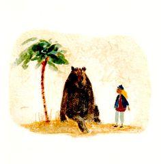 Blonde Girl Meets a Bear greeting card by Tiphanie Beeke  1996