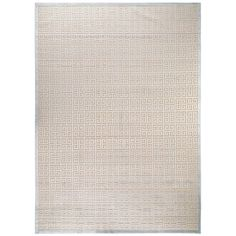 Boasting contemporary appeal, this rayon rug will give any home a welcoming touch. This rug showcases a geometric pattern with ivory and grey shades.