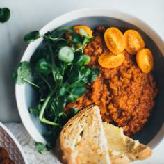 Get the recipe for Ethiopian Berbere Red Lentils made with ghee, fresh garlic, ginger and onion. A 25 minute, one-pot dish! Vegan option.