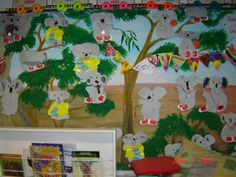Koalas from three picture books - Koala Lou, The Koala Who Bounced and The Bush Jumper Wombat Stew, Australian Authors, Animal Activities, Author Studies, Australian Animals, Dramatic Play, Picture Books, Olympic Games, Early Childhood
