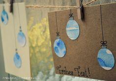 Ideen für selbstgemachte Weihnachtskarten // Ideas for selfmade christmas cards!