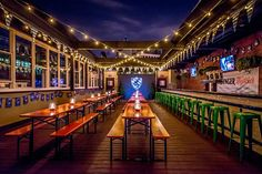 The newest addition to DC's outdoor drinking scene debuts today with the opening of Sauf Haus Bier Hall. The two-story watering hole includes both an indoor bar and an open rooftop, with a Germanic theme throughout. Here's what you...