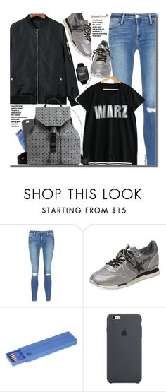 """""""School Style"""" by beebeely-look ❤ liked on Polyvore featuring Frame Denim, Golden Goose, Polite, BackToSchool, schoolstyle, sammydress, bomberjackets and smartwatch"""