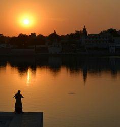 Pushkar holy lake.