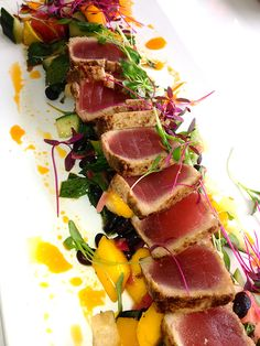 summer salad recipe: seared tuna & island chopped salad