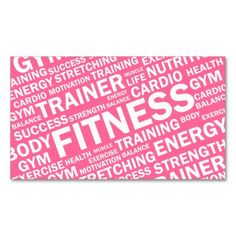 Personal Trainer and Fitness Business Card. I love this design! It is available for customization or ready to buy as is. All you need is to add your business info to this template then place the order. It will ship within 24 hours. Just click the image to make your own!