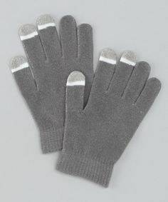 Take a look at this Gray Glow-Tip Touchscreen Gloves by Perfect Presents; on zulily