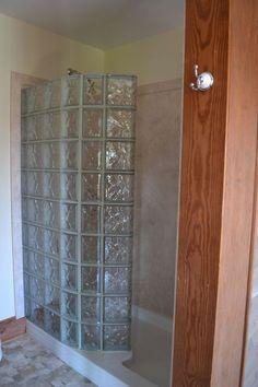 Bloque de cristal pie en el kit de ducha con base de acrílico y paneles de las paredes interiores de la ducha de bricolaje: