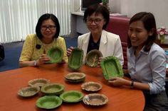 Leaf-bowls to replace styrofoam food boxes Leaf Bowls, Plates And Bowls, Banana Leaf Plates, Dining Ware, Food Bowl, Food Packaging, Recipe Box, Natural Health, Biodegradable Products