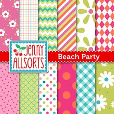 Summer digital scrapbook freebie from Jenny Allsorts