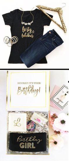 Etsy 40th Birthday Shirt 40 and Fabulous Shirt 40th Birthday Gifts for Women Ideas Forty and Fabulous ( #affiliate
