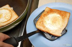 Make Eggs in a Basket - wikiHow