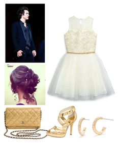"""""""He asked me out for the school Halloween dance.*stutters in utter amazement*!!!"""" by emily-watson-styles ❤ liked on Polyvore featuring David Charles, Nadri, Chanel and MICHAEL Michael Kors"""