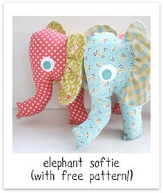 elephant softie with free pattern