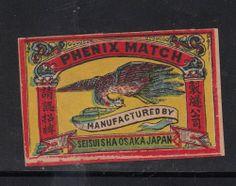Old Matchbox Label Japan Patriotic ABBT41 Bird | eBay