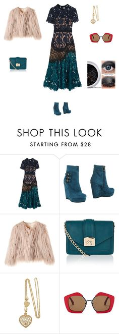 """""""Untitled #3307"""" by smaranda-panfil ❤ liked on Polyvore featuring self-portrait, Paciotti 4Us, Accessorize and Marni"""