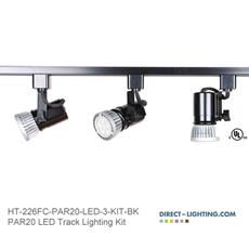 Jesco lighting kit 3led127scbk mini deco series line voltage track music room track and booth led track lighting kits led par20 track lighting systems ht aloadofball Images