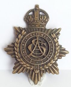 WWI Army Service Corp Officers Service Dress Badge Trench Art Sweetheart Brooch   eBay