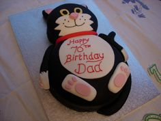 Novelty cat cake by Angel Cakes London, via Flickr