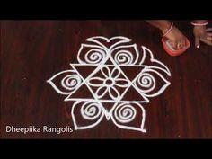 beautiful friday kolam designs without dots II easy rangoli for beginners II simple rangoli kolangal Indian Rangoli Designs, Rangoli Designs Latest, Rangoli Designs Flower, Rangoli Designs With Dots, Beautiful Rangoli Designs, Mehandi Designs, Small Rangoli, Easy Rangoli, Muggulu Design