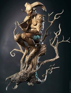 O fauno leitor / A faun reading 3d Fantasy, Fantasy Kunst, Mythological Creatures, Mythical Creatures, Wood Sculpture, Zbrush, Oeuvre D'art, Wood Carving, Wood Art