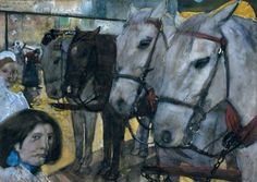 George Hendrick Breitner (1857-1923) was a Dutch painter and photographer who enjoyed painting everyday life in an honest, and realistic style. Whilst not specifically an equestrian artist, he often did paint horses, purely because they were very much a part of everyday life in the Netherlands during his career. Breitner was a contemporary of Vincent Van Gogh, and was introduced to him by Vincent's brother, Theo.