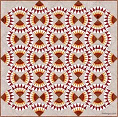 Would you have recognized this as a New York Beauty Quilt design?