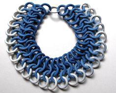 porcelain necklace   rapsody in blue