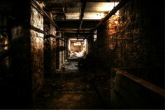 Tunnel under an abandoned paper mill outside Lockport NY  #abandoned #tunnel #paper #mill #outside #lockport #photography