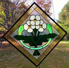 A personal favorite from my Etsy shop https://www.etsy.com/listing/473267348/craftsman-stained-glass-window-panel