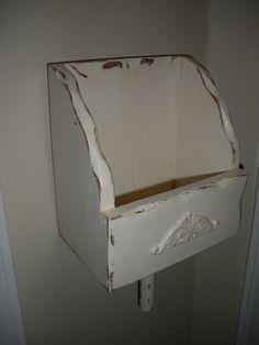 Wood Mail HolderWood Bill HolderWall by AtticJoys1 on Etsy, $20.00