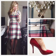 Plaid, bow, pearls. Love it!