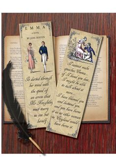 Home › AngelicaNight › Paper goods  Bookmark - Jane Austen's Emma inspired.