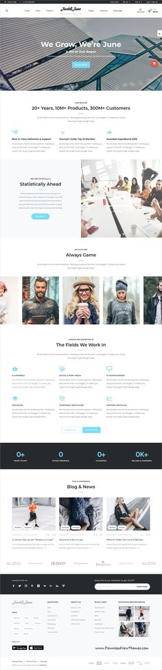 June is clean and modern design responsive WooCommerce #WordPress theme for #business and #eCommerce #website with 15+ niche homepage layouts to live preview & download click on image or Visit