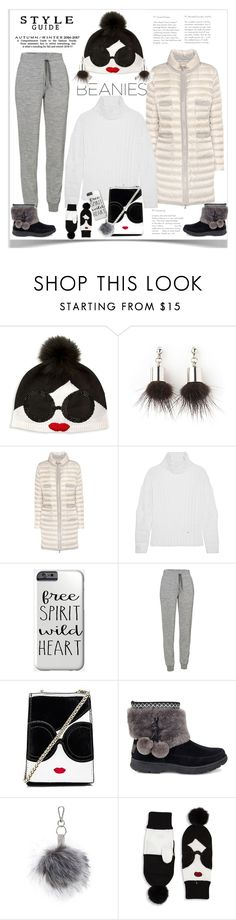 """""""Hat Head: Pom Pom Beanies"""" by ellie366 ❤ liked on Polyvore featuring Alice + Olivia, Simons, Moncler, Esteban Cortazar, Icebreaker, UGG, Topshop, beanies, pompom and winteressentials"""