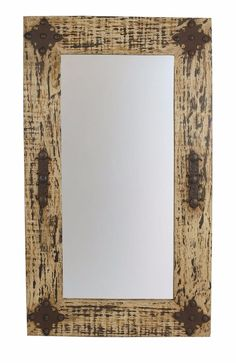 Sonora Mirror-Wood-Mexican-20x34-Rustic-Clavos-Distressed-Primitive-Wall-Soft