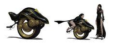 Mono-wheeled Bike byJuhyung Kang | Scifi-Fantasy-Horror.com