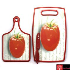 Red Forest Chopping Board With Knife 3 Pcs Set Kitchen Dinning, Buy Kitchen, Kitchen Items, Kitchenware, Tableware, Buy Mobile, Storage Sets, Kitchen Collection, Kitchen Accessories